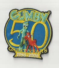 Gumby 50th Anniversary Patch Iron On Sew New Hats Caps Jeans Backpacks 1956-2006