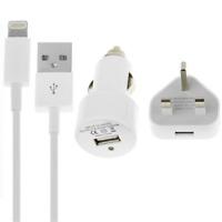 3 in 1 Lade- und Sync-Kabel uk-netzstecker Auto Ladegerät iPhone 5 5 S 5C iPad