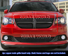 Fits 2011-2020 Dodge Grand Caravan Main Upper Black Billet Grille Insert