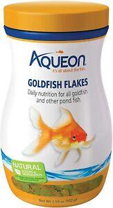 3.59oz Aqueon Goldfish Flakes, FREE 12-Type Pellet Mix Included