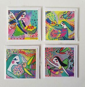 Gift card sized original art prints x4 by Qld  Artist Nadine Sawyer suit framing