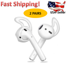 Ear Hooks Silicone Skin Cover For Apple AirPods White/Black - Two Pairs