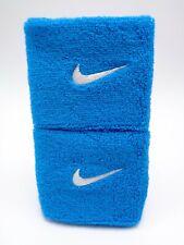 "Nike Swoosh Wristbands Neo Turq/White 3"" Men's Women's"