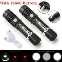 Zoom T6 LED 18650 Flashlight USB Rechargeable Torch Light T6 Super Bright Lamp