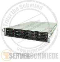 19'' 2U Supermicro Server 12x LFF 128GB RAM 2x Xeon E5-2640  2x 300GB vmware