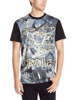 Akademiks Men's Fashion Short Sleeve Tee Shirt, Trophies Blue, 3XL