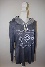 "Jesse & J Womens Large hoodie thin ""Weekend Warrior"" Graphic T Shirt Sweatshirt"