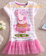 NEW with tags BNWT girls Peppa Pig top tshirt tunic tulle tutu size 5