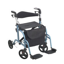 Juvo Tch102 Mobi Rollator-Transport Chair-Metallic Blue