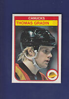 Thomas Gradin 1982-83 O-PEE-CHEE OPC Hockey #344 (NM+) Vancouver Canucks