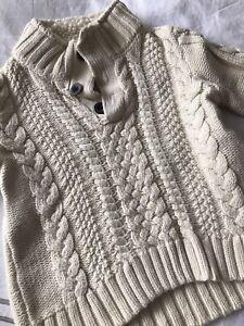 GAP boys cream beige off white sweater - size 4