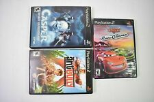 Lot of 3 Sony PS2 Video Games Ant Bully Casper Spirit Dimensions Cars Race ORama