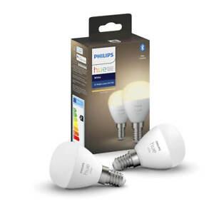 Philips Hue White E14 Luster Leuchtmittel LED dimmbar Bluetooth ZigBee 5,7W 2er