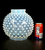 """BIG 10"""" Antique Victorian Opalescent Glass Hobnail Oil Lamp Globe GWTW 6"""" Fitter"""