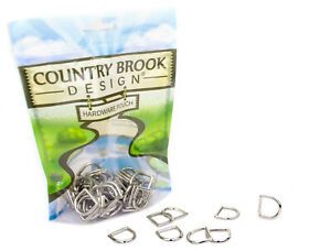 25 - Country Brook Design® 5/8 Inch Die Cast Square Bottom D-Rings