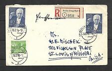 GERMANY SC 9N111x2  ON REGISTERED COVER TO USA   FVF