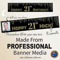 21st 30th Birthday Party Decorations Gatsby Canvas Fabric Banner Personalised