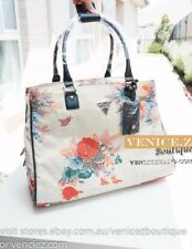BNWT RRP$219 GUESS FENNER Travel Tote Lugguage Bag Creme Fabric