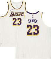 LeBron James Los Angeles Lakers Autographed White Nike Jersey Upper Deck