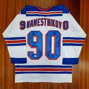 Vladislav Namestnikov Autographed Signed Jersey New York Rangers JSA