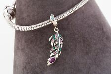 Majestic Feather Charm for Bracelet or Necklace, Delicate Silver Jewellery