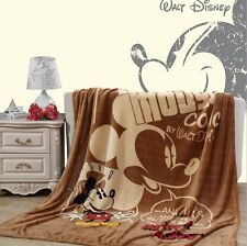 Cartoon Lovely Mickey Mouse Plush Warm Soft Silky Flannel Blanket Throw Bedding