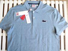 XL lacoste Sz.6 bleu chiné Polo Shirt Homme Homme nouvelles balises Superbe Croc Logo