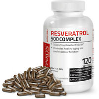 Resveratrol 500 Complex Red Wine Extract Antioxidant Heart Health, 120 Capsules