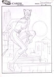5 Al Rio Original Comic Art Sketch Drawings Harley Quinn Catwomen DeathStroke ++