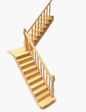 1:12 Self Assembly Dolls House Miniature L or R Angled Stair Case Landing Kit