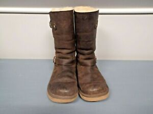 UGG Australia Women's KENSINGTON Double Buckle Boots in Brown 5678-Size 8