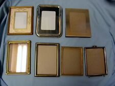 Lot of 7 Small Vintage Picture Frames Mostly 3 x 4 Pictures Crafts