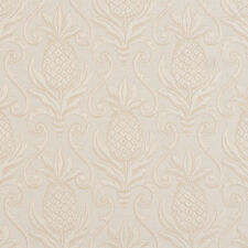 E519 Ivory White, Pineapple Jacquard Upholstery Grade Fabric By The Yard