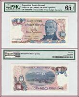 1983-1985 Argentina 100 Pesos PMG 65 EPQ Gem Unc Banknote Currency