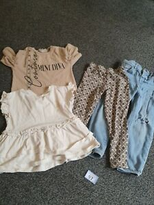 Girls 2-3 Years River Island Clothes, Jeans Leggings And Tops (B97)