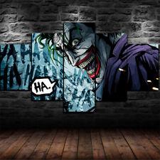 Framed Joker Guason DC Comics 5 Piece Canvas Print Wall Art Decor