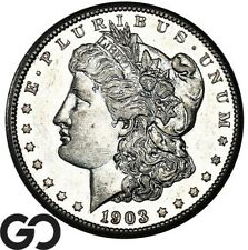 1903-S Morgan Silver Dollar, Proof-Like, Choice AU+ Better Date