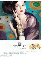 PUBLICITE ADVERTISING  056  2011  les bijoux Frey Wille joaillier  Pure Art