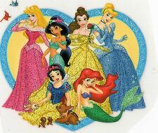 Disney Princesses Glitter #1 Iron On Transfer Patch Craft Embellishment T-Shirt