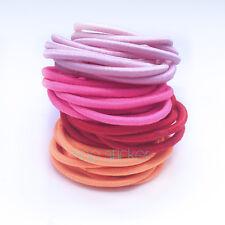 Colourful Thick Endless Snag Free Hair Elastics Bobbles Bands Pony Tails 50pcs