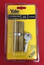 Genuine Yale Euro Profile Cylinder 40/50 (90 mm) Satin Brass