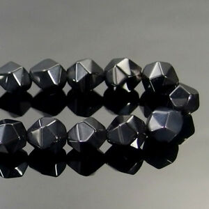 Natural Gemstones Faceted Polygons Diamond Shaped Spacer Beads 15'' 6mm 8mm 10mm