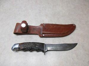 Vintage Schrade - Walden USA 147 Hunting Knife With Leather Sheath, Good Shape