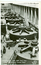 WASHINGTON-GRAND COULEE DAM-GENERATOR ROOM-680 FT LONG-1947-RPPC-(RP#1-49)