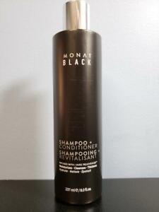 Monat Black Shampoo + Conditioner Infused with Rejuveniqe 8 oz - New / Sealed!