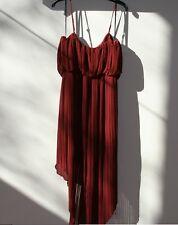 BCBGeneration Pleated Hi-Lo Dress Dark Paprika Small S