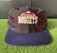 Vintage Denver Nuggets Shark Tooth Drew Pearson Snapback Hat NBA 1990s Murray