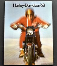 ORIGINAL 1968 HARLEY DAVIDSON 65cc to 1200cc MOTORCYCLE BROCHURE ~ 4 PAGES ~68HD