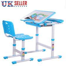 Height Adjustable Kids Desk Chair Ergonomic Children Study Table - Mini Blue