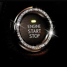 1pc Auto Interior Decorator Silver Accessories Button Start Switch Diamond Ring